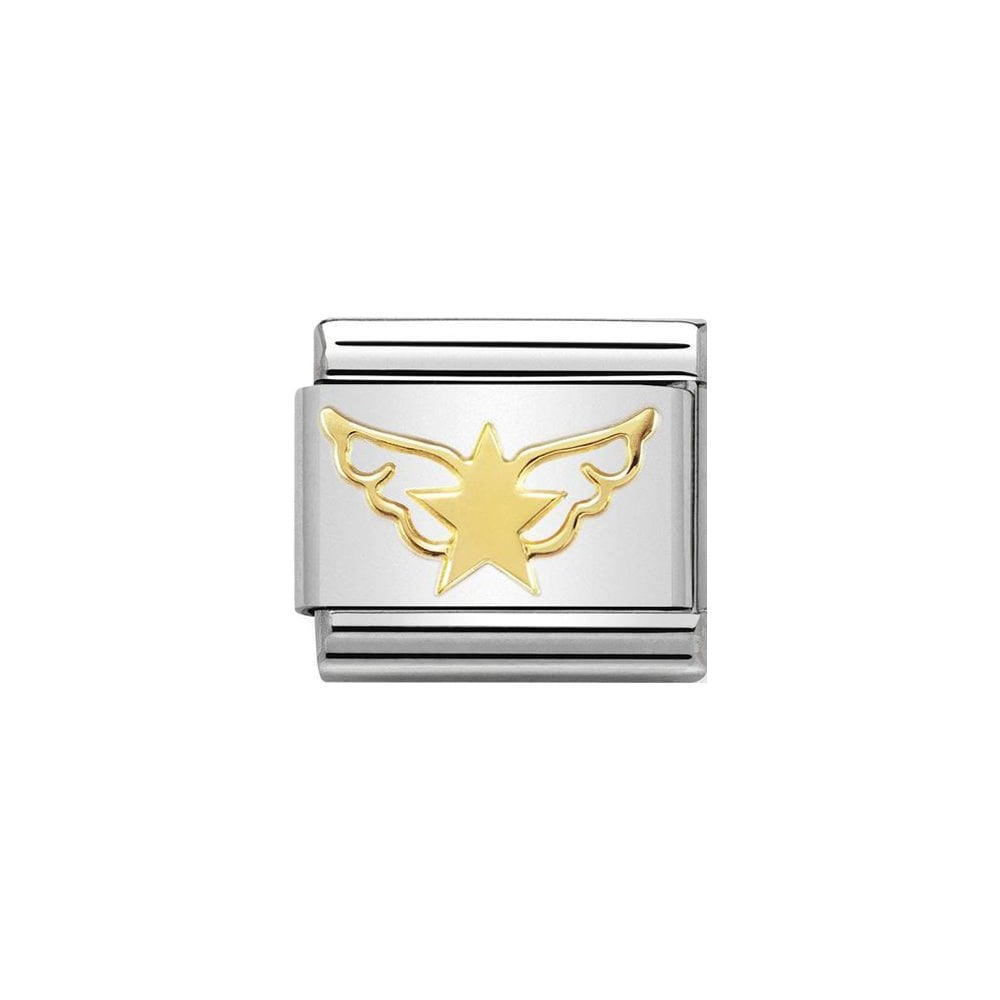 Nomination Classic Gold Star Angel Charm - S&S Argento