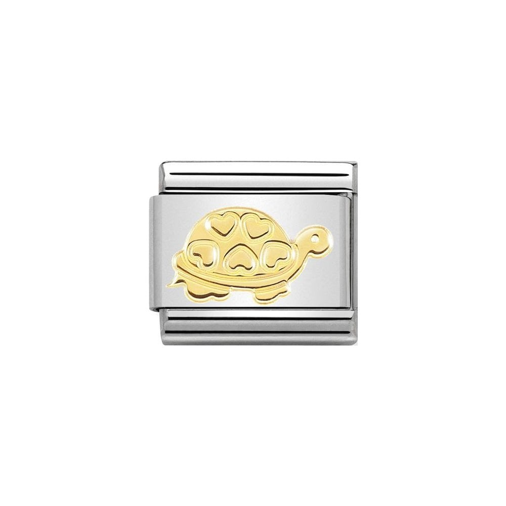 Nomination Classic Gold Turtle with Hearts Charm - S&S Argento