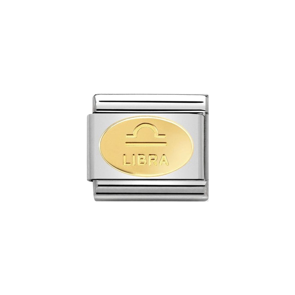 Nomination Classic Gold Oval Libra Charm - S&S Argento