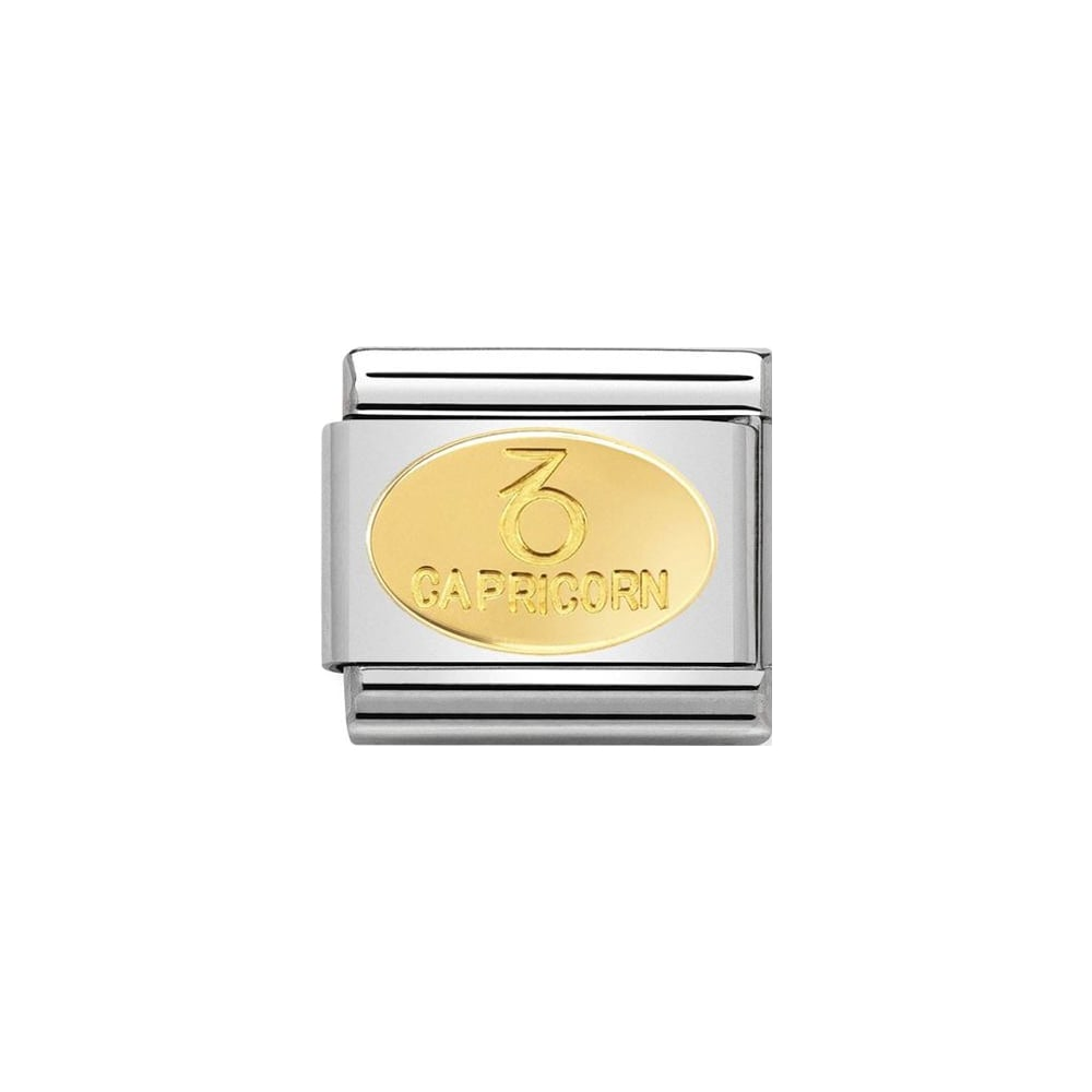 Nomination Classic Gold Oval Capricorn Charm - S&S Argento