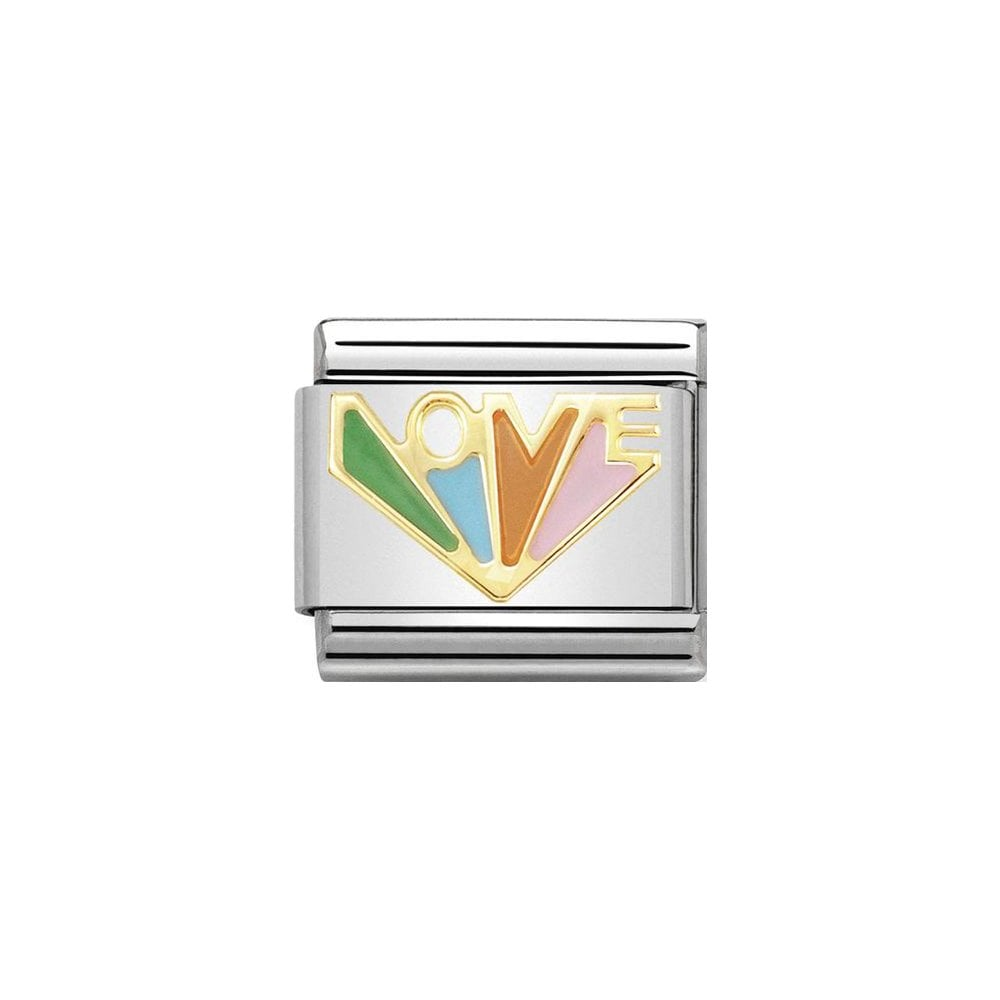 Nomination Classic Gold Rainbow Love Charm - S&S Argento
