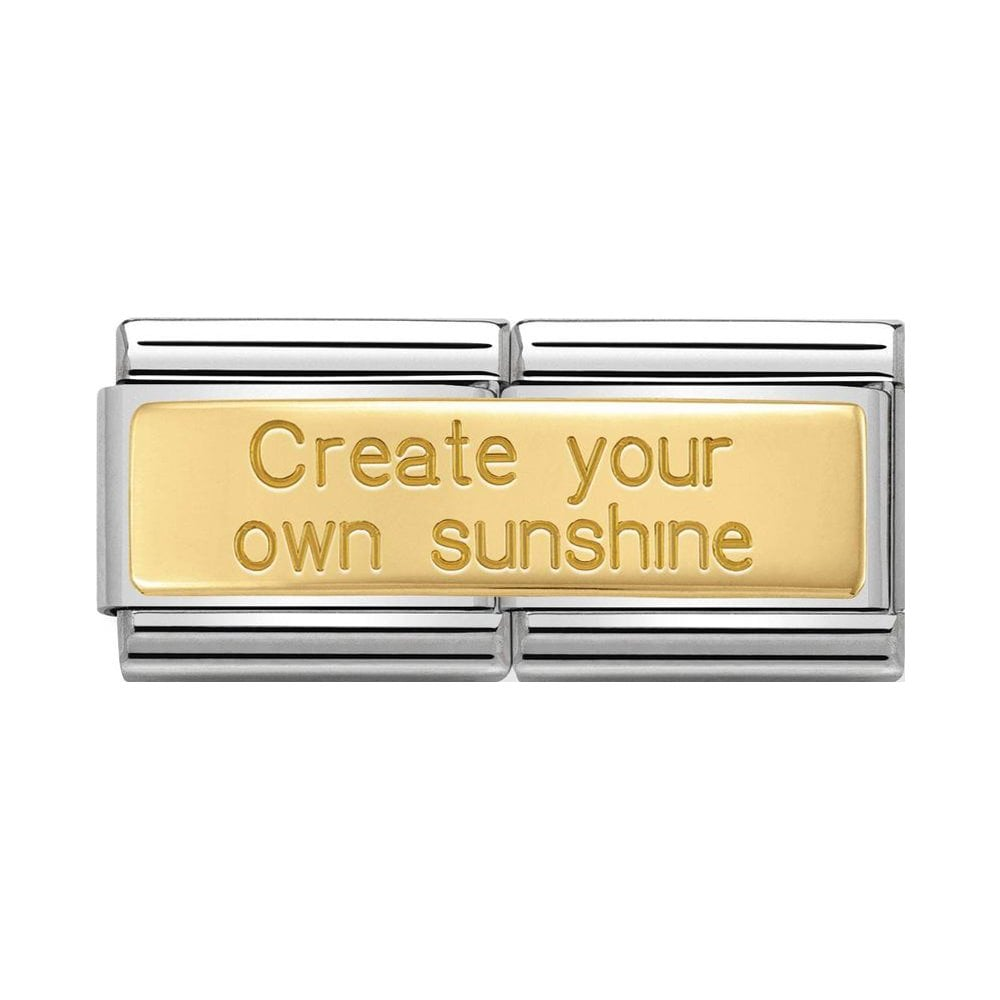 Nomination Classic Gold Create Your Own Sunshine Double Charm - S&S Argento