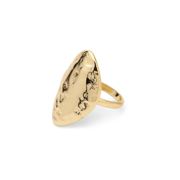 Ama Hammered Statement Ring