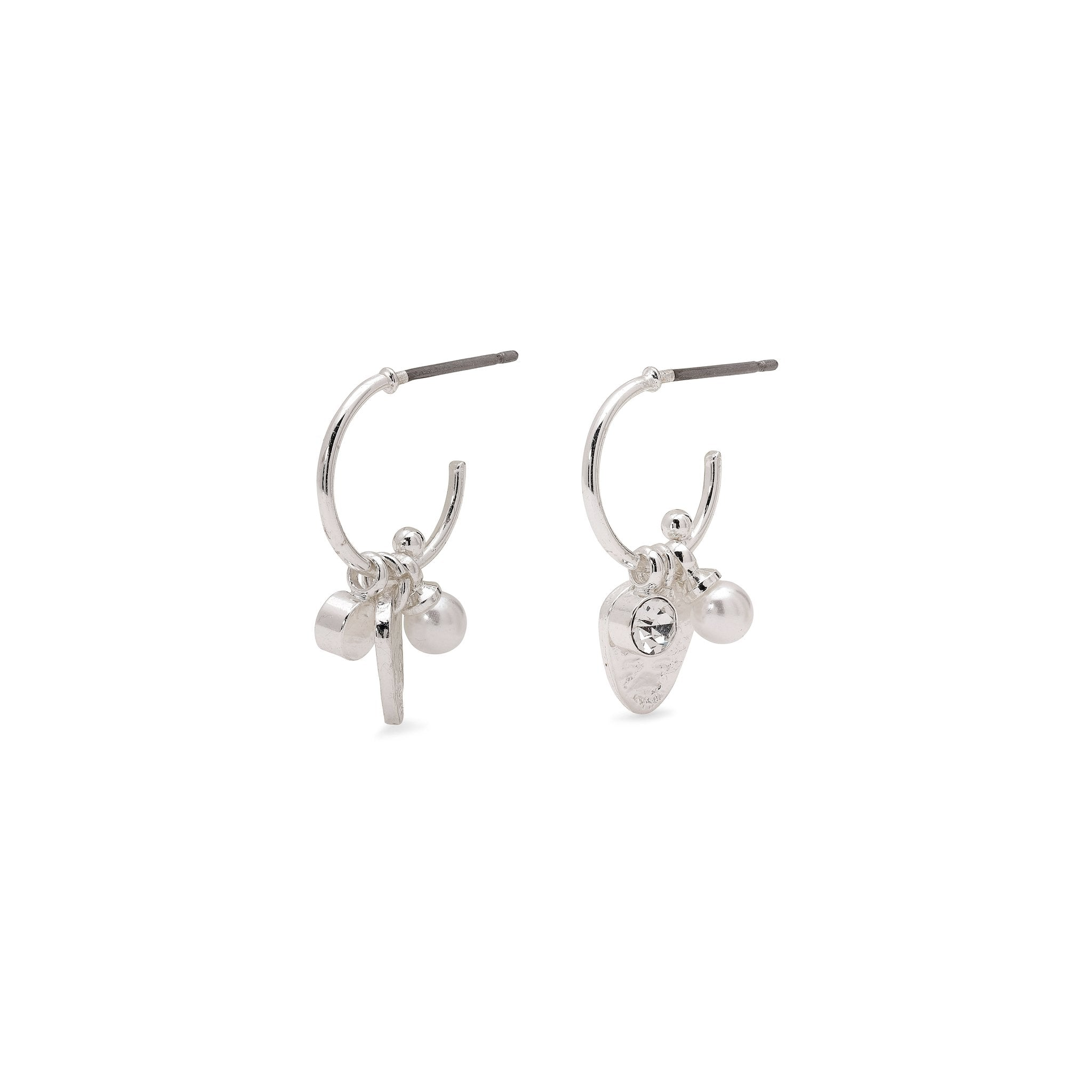 Pilgrim Ama Small Pearl And Crystal Earrings