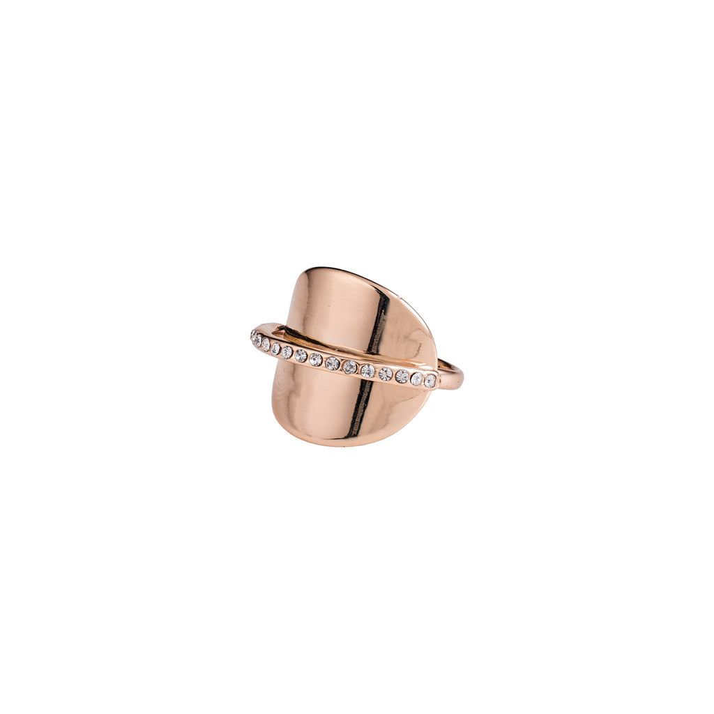 Pilgrim Beauty Rose Gold and Cubic Zirconia Ring - S&S Argento