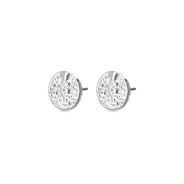 Pilgrim Frigg Hammered Stud Earrings