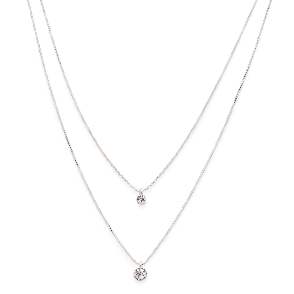 Pilgrim Lucia Double Layered Crystal Necklace