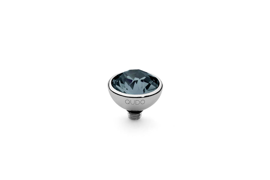 Stainless Steel Bottone 10mm Denim Blue - S&S Argento