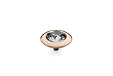 Rose Gold Tondo 13mm White Crystal - S&S Argento
