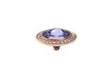 Rose Gold Tondo Deluxe 16mm Tanzanite - S&S Argento