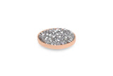 Rose Gold Tirano 20mm Silver Crystal - S&S Argento