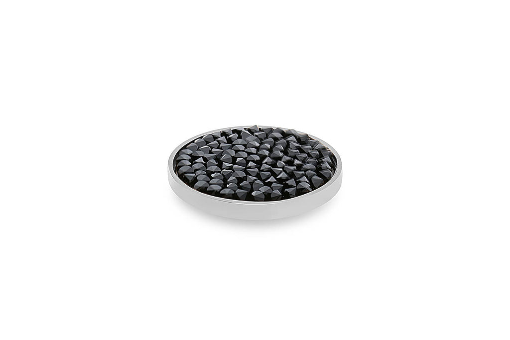 Stainless Steel Tirano 20mm Jet Black - S&S Argento