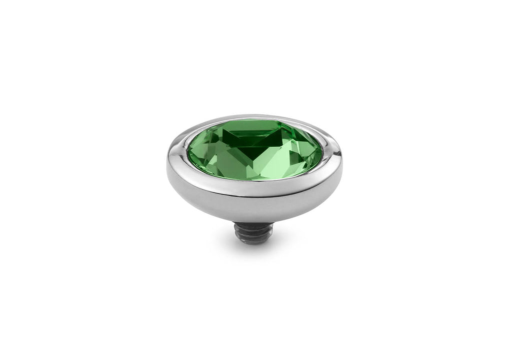 Stainless Steel Piave 9x11mm Erinite Green - S&S Argento