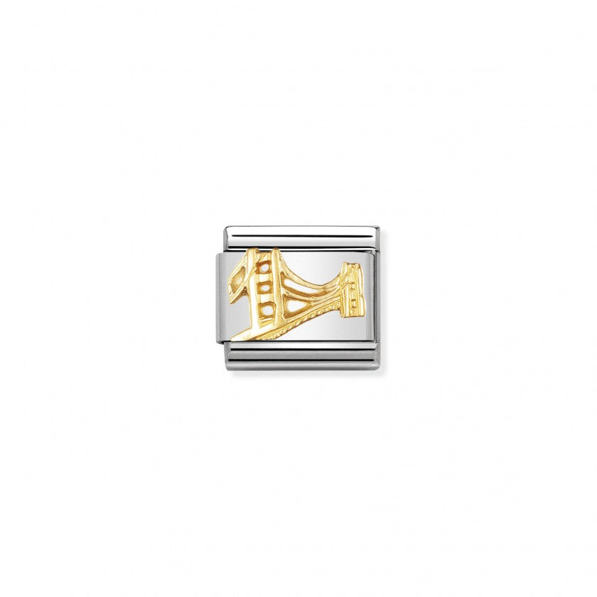 Nomination Classic Golden Gate Bridge Charm - S&S Argento
