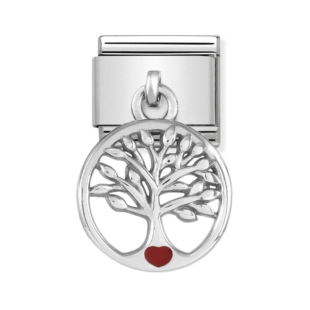 Nomination Classic Hanging Silver & Yellow Cocktail Drop Charm - S&S Argento