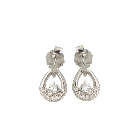Paula Bolton Sterling Silver CZ Earrings