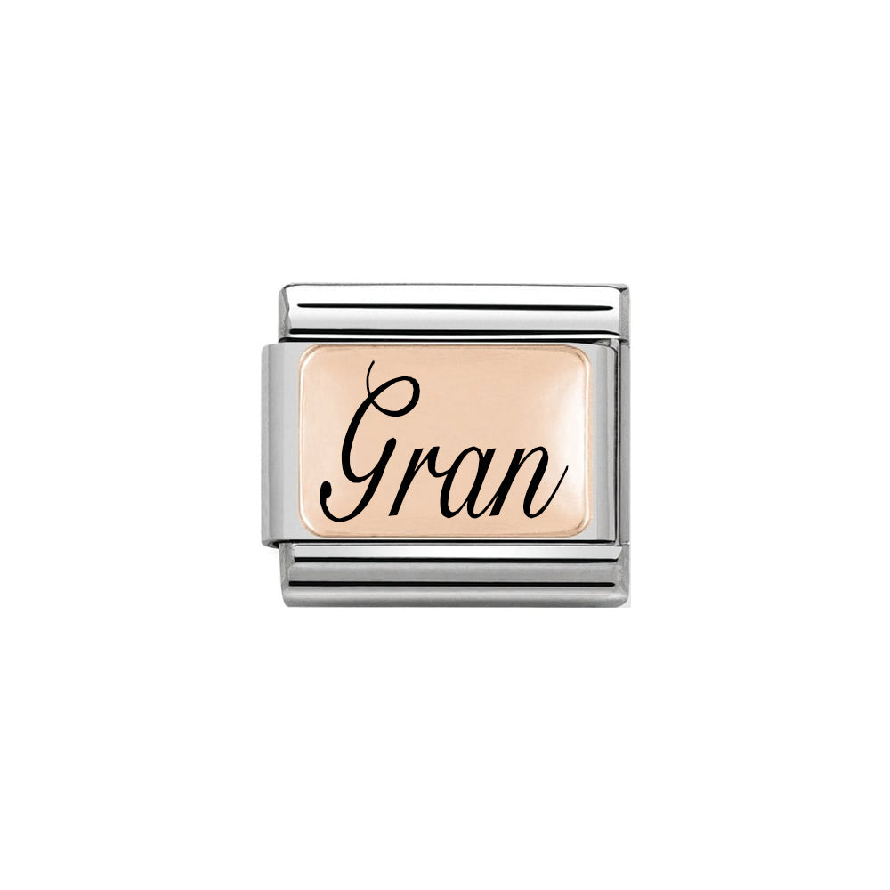 Nomination Classic Rose Gold Gran Script Charm (Limited Edition)