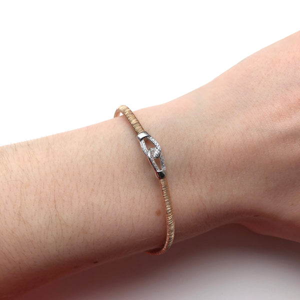 Rose Gold and Cubic Zirconia Linked Bracelet - ICB8