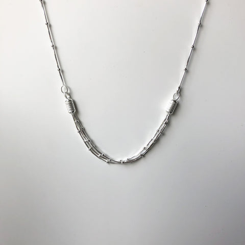 Sterling Silver Ball Chain Necklace - ICN1