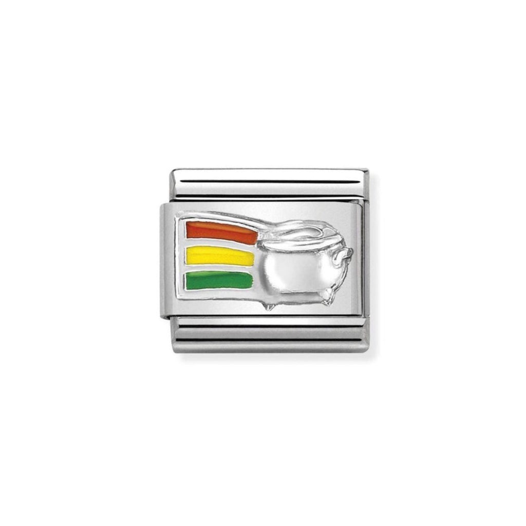 Nomination Classic Silver Rainbow & Pot of Gold Charm - S&S Argento