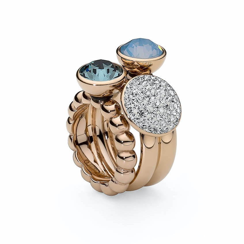 Veroli Rose Gold Slim Ring - S&S Argento