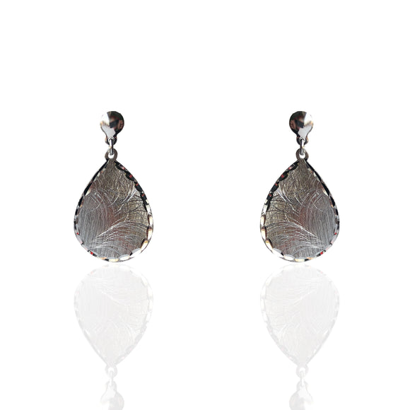 Teardrop Diamond-Cut Earrings - NCE6