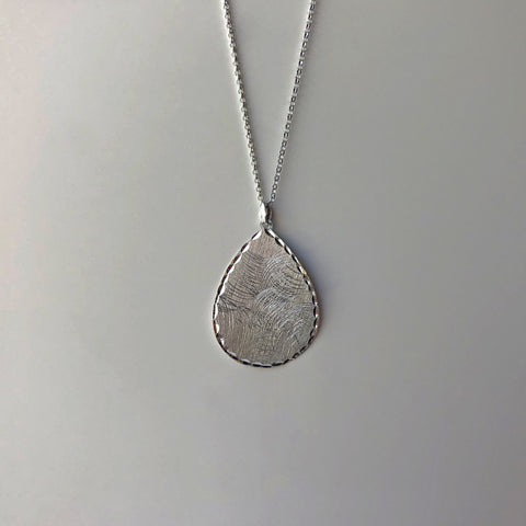 Teardrop Diamond-Cut Necklace - NCP6