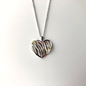Striped Heart Necklace - NCP7