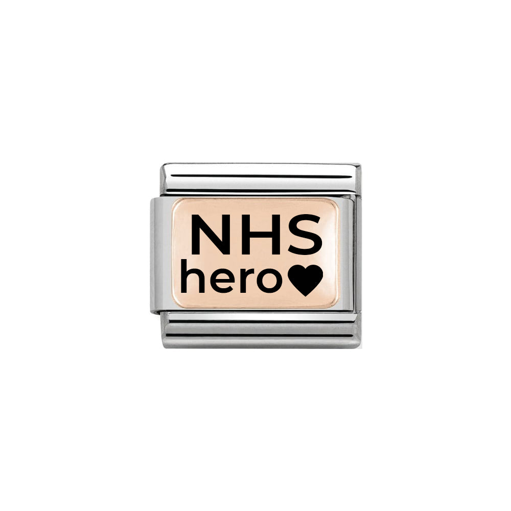 Nomination Classic Rose Gold NHS Hero Charm