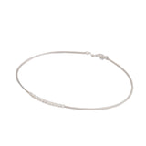 Sterling Silver Mesh Necklace with Central Solid Rings - S&S Argento