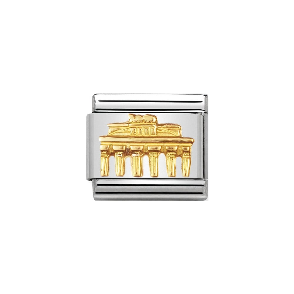 Nomination Classic Gold Brandenburg Gate Charm - S&S Argento