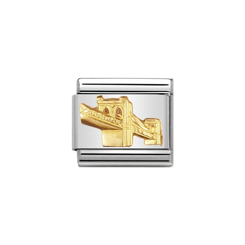 Nomination Classic Gold Brooklyn Bridge Charm - S&S Argento