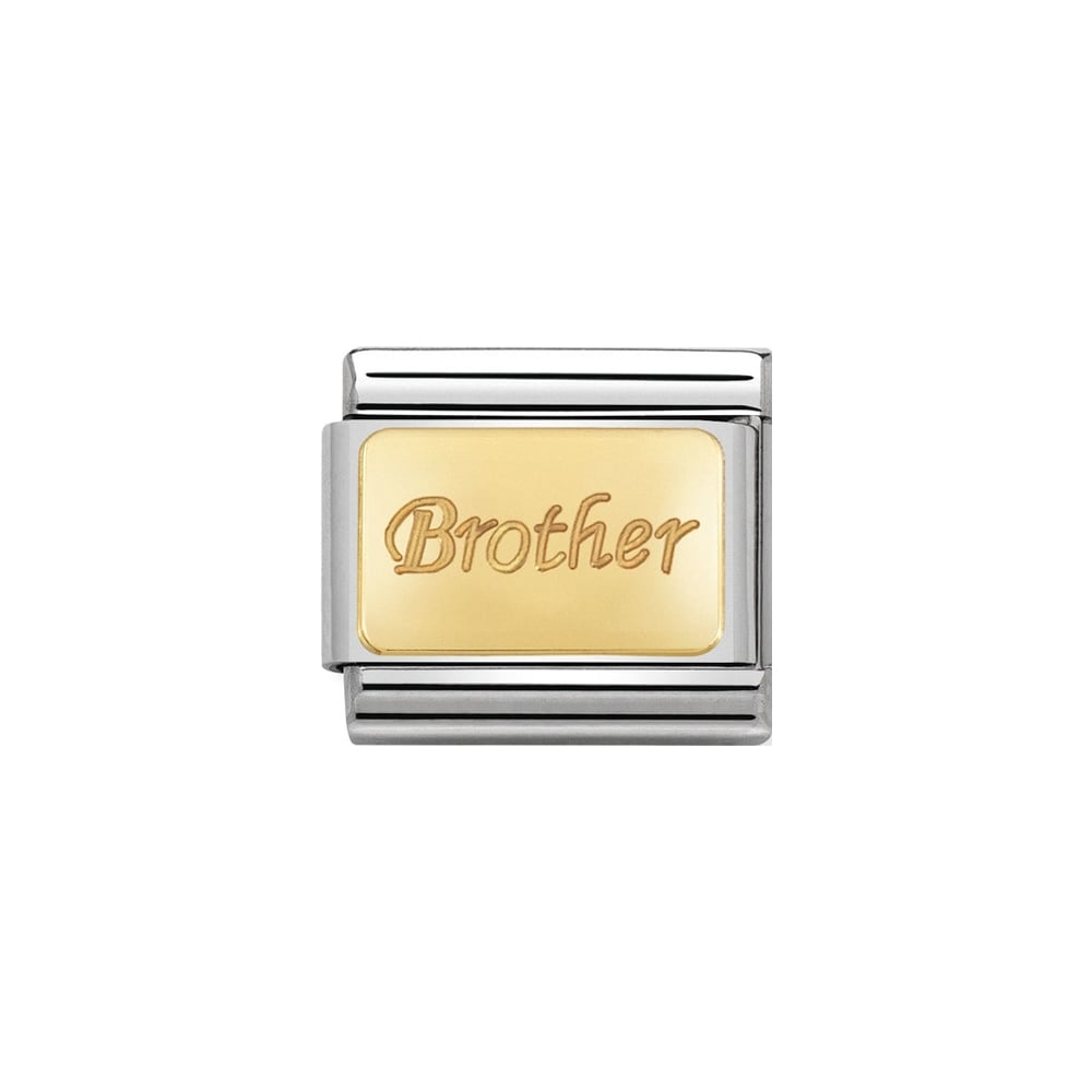 Nomination Classic Gold Brother Plate Charm - S&S Argento