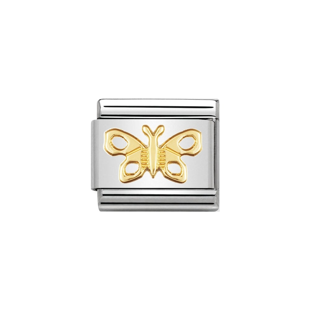 Nomination Classic Gold Butterfly Charm - S&S Argento