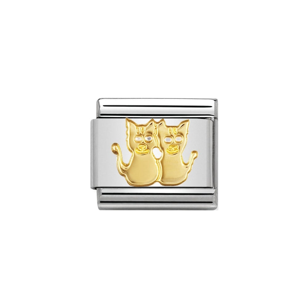 Nomination Classic Gold Cats Charm - S&S Argento