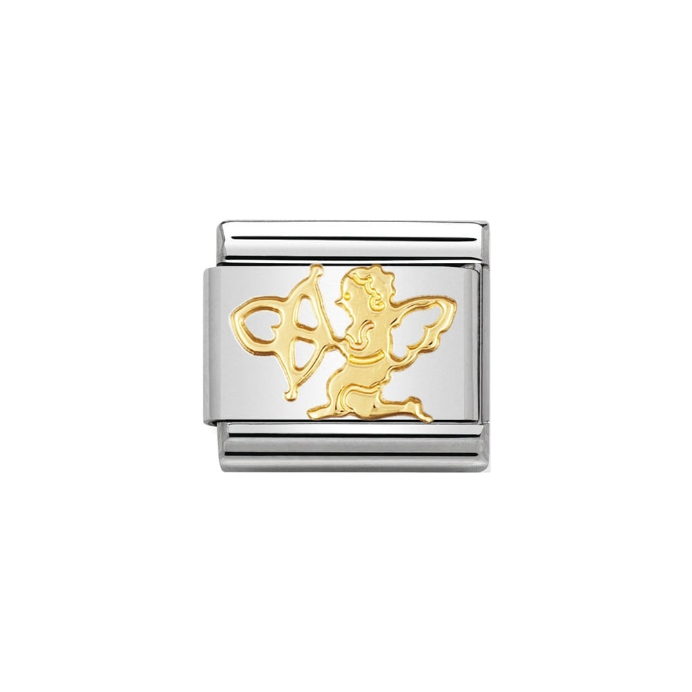 Nomination Classic Gold Cupid Charm - S&S Argento