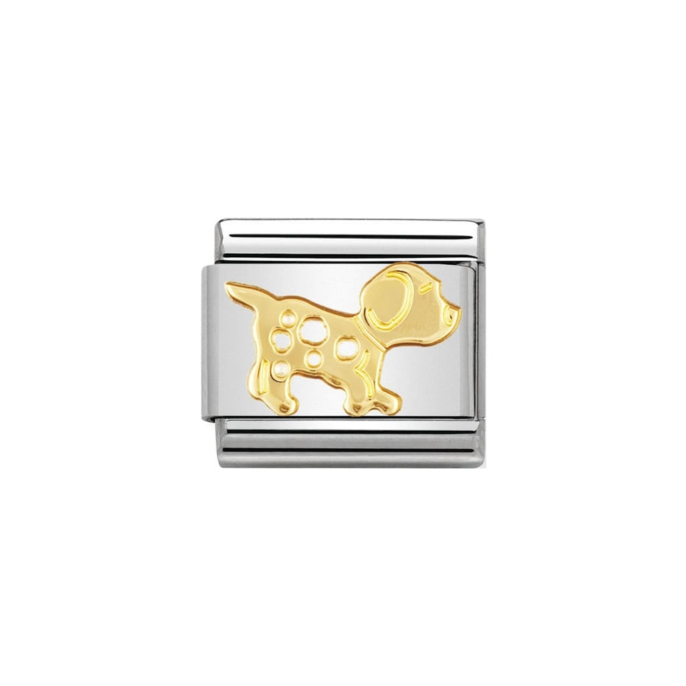 Nomination Classic Gold Dog (Spotty) Charm - S&S Argento