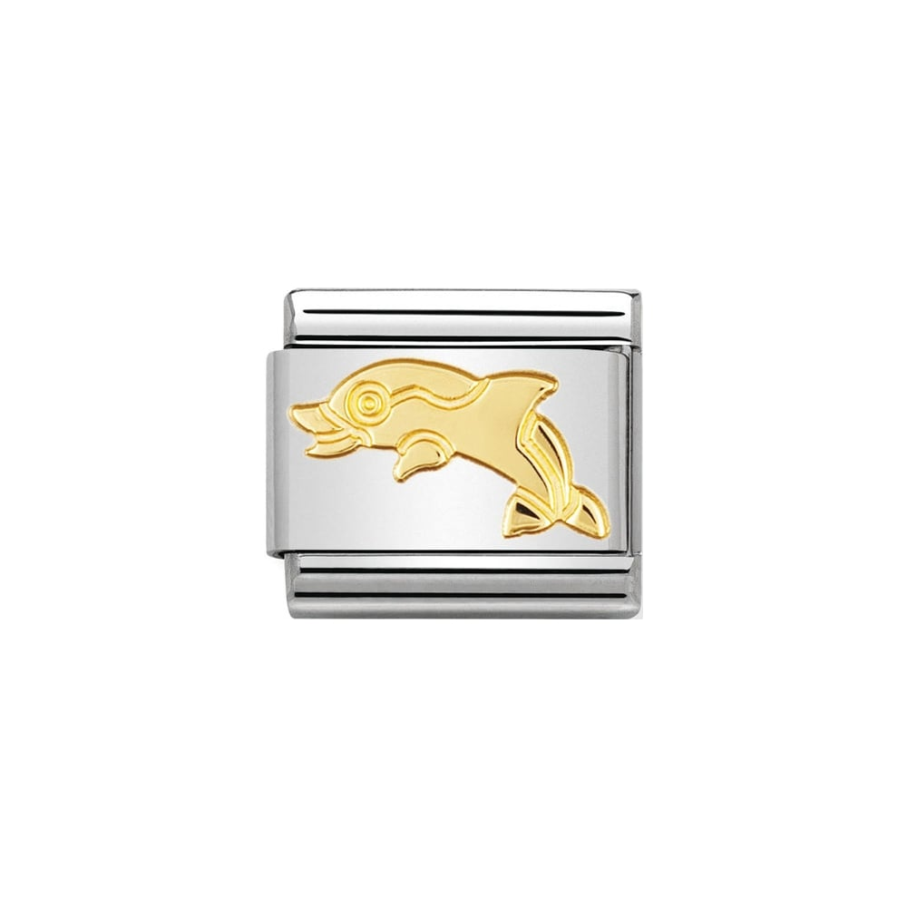 Nomination Classic Gold Dolphin Charm - S&S Argento