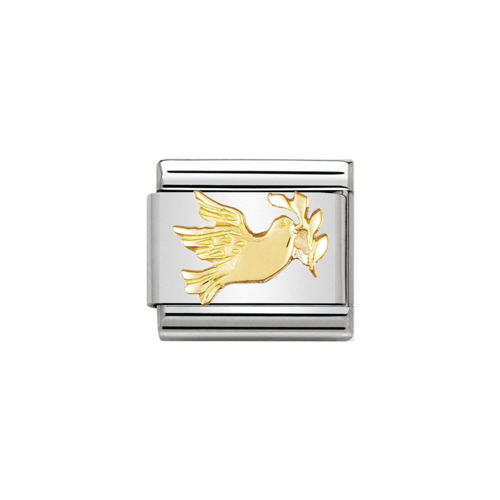 Nomination Classic Gold Dove of Peace Charm - S&S Argento