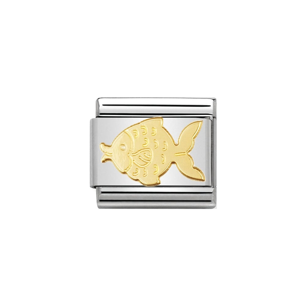 Nomination Classic Gold Fish Charm - S&S Argento
