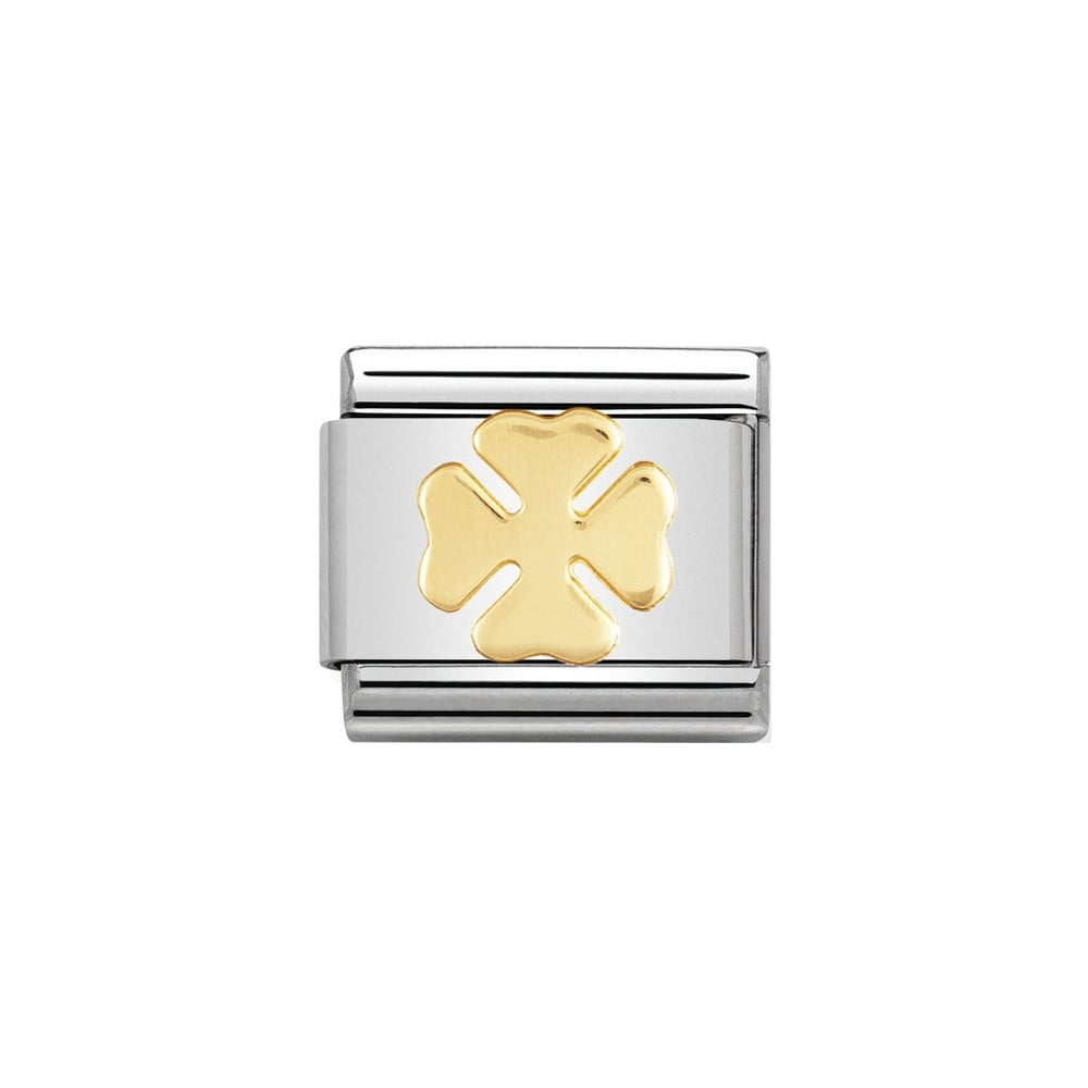 Nomination Classic Gold Four-Leaf Clover Charm - S&S Argento