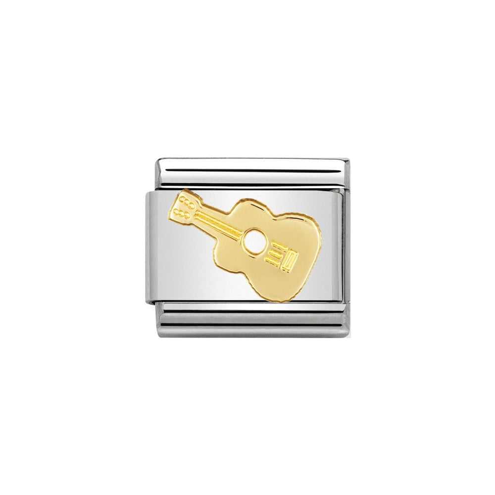 Nomination Classic Gold Guitar Charm - S&S Argento