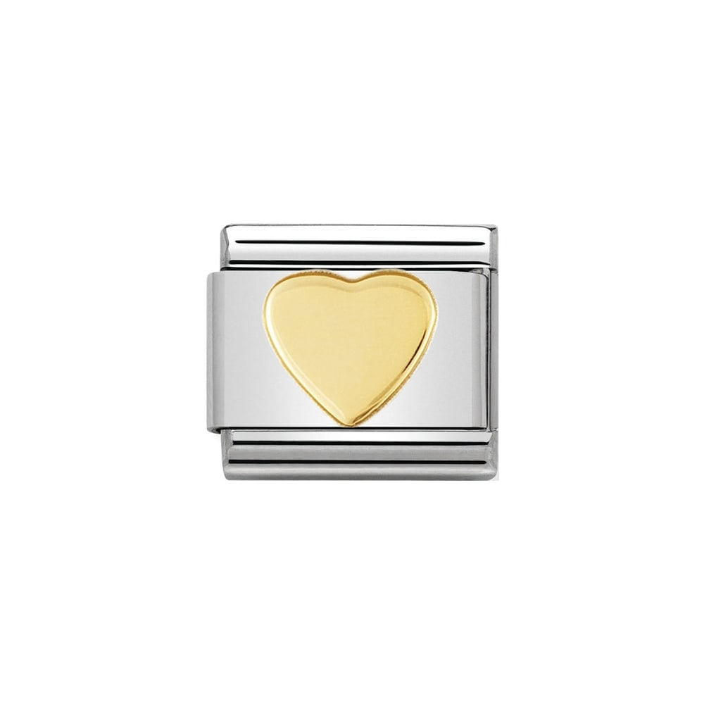 Nomination Classic Gold Heart Charm - S&S Argento