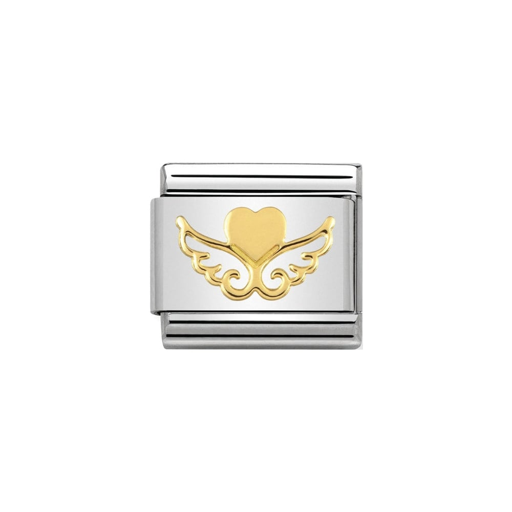 Nomination Classic Gold Heart With Wings Charm - S&S Argento