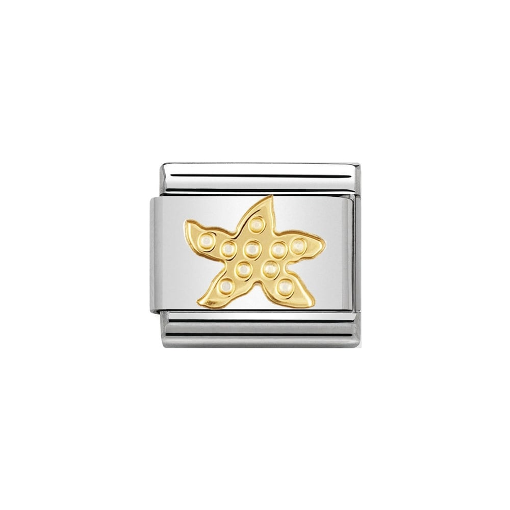 Nomination Classic Gold Starfish Charm - S&S Argento