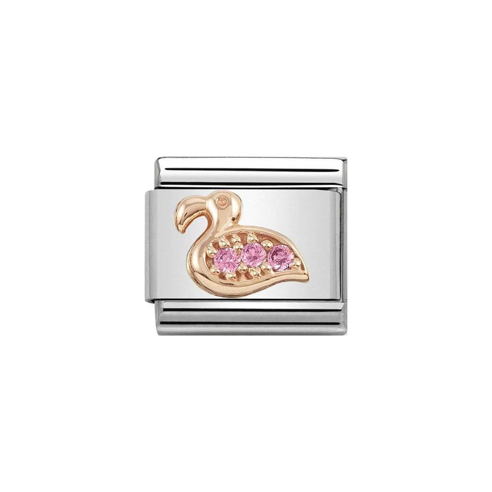 Nomination Classic Rose Gold & Pink CZ Flamingo Charm - S&S Argento