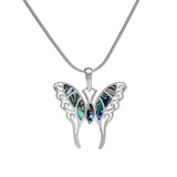 Sterling Silver and Abalone Shell Butterfly Pendant