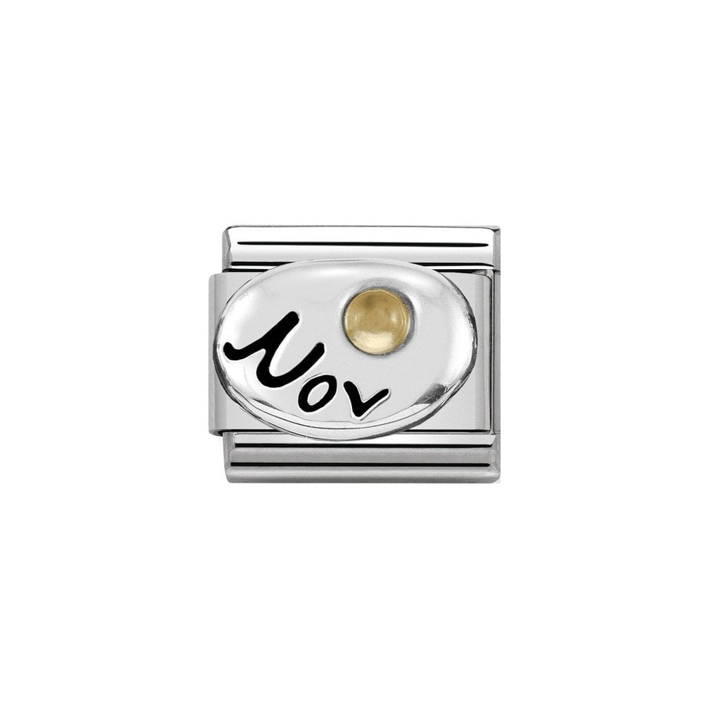 Nomination Classic Silver November Citrine Charm - S&S Argento