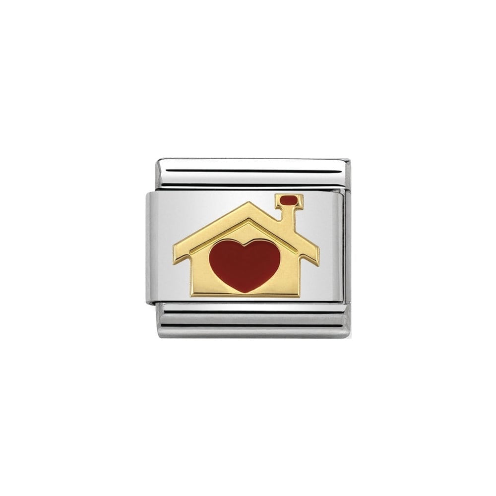Nomination Classic Home with Heart (House) Charm - S&S Argento