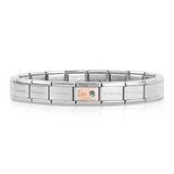 Classic Composable Silver & Rose Gold December Birthday Bracelet